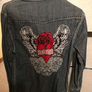 Rock&Roll denim western shirt
